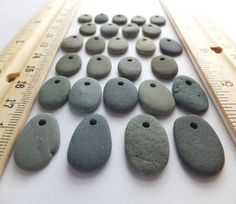 Beach Pebble Beads  Set of 27  Top Drilled by PlymouthRocks, $11.25