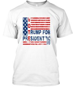 Vintage VOTE Trump For President Election 2016 printed T-Shirts, Bella Flowy Tanks and Hoodies. S- 5XL. #Tee