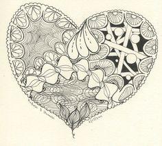 zentangle hearts | Zendala, Mandala and a Zentangle Heart