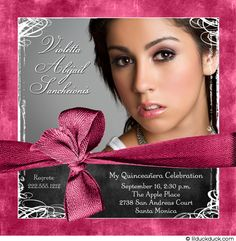 invitation idea with ribbon the color of the dress