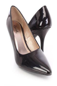 75552555d1f5 Black Pointed Toe Single Sole Pump Heels Patent. High Heel PumpsStiletto  HeelsPumps HeelsSpring ShoesSummer ShoesProm ShoesWomens ...