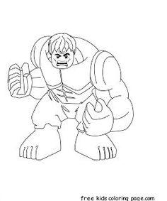 disegni da colorare lego: hulk ed elsa di frozen
