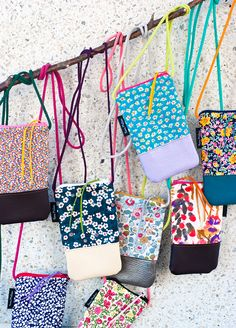 novamelina  www.novamelina.com International shipping!!  #liberty #of #london #fabric #handmade #unique #phone #bags Liberty Of London Fabric, Liberty Fabric, Liberty Print, Sew Bags, Kids Bags, Straw Bag, Melbourne, Totes, Sewing Projects