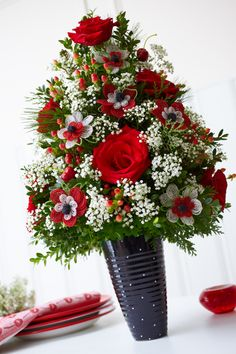Holiday Flower Trees; a nice table centrepiece or decoration