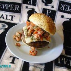 Portobello Mushroom Burger With Bruschetta Topping - Allrecipes.com
