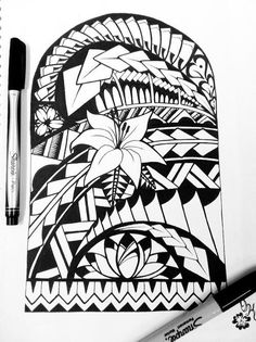 pacific tribal arts designs | samoan tribal tattoo flower tattoo tatt ink tribal polynesian