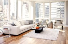 Living Room - Modern - Living room - Photos by Tara Benet Design Living Room Modern, Home Living Room, Living Spaces, Small Living Room Design, Living Room Designs, Contemporary Living, Living Room Floor Plans, Living Room Photos, Condo Living