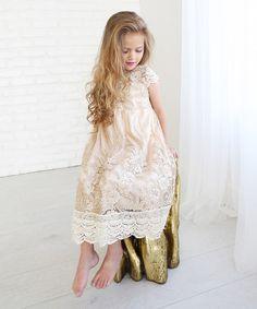 Buttercream Crochet-Trim Cap-Sleeve Dress - Infant, Toddler & Girls #zulily #zulilyfinds