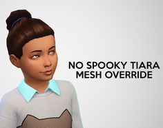 The Sims 4   swirlgoodies/pixelswirl: SP04 Spooky Stuff No Tiara Hairstyle Mesh   default replacement hairs for female child