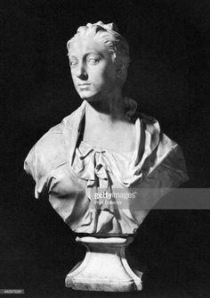 Princess Amelia, mid 18th century (1958). White marble bust. Amelia (1711-1786) was the second daughter of King George II of Great Britain. A print from The Fitzwilliam Museum an Illustrated Survey, Trianon Press, 1958.