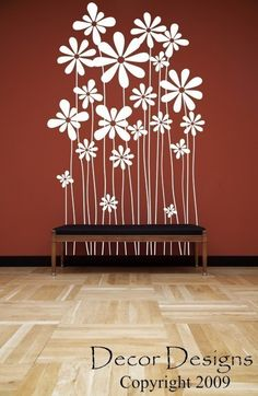 Beautiful Flowers Wall Decal by DecorDesigns on Etsy, $19.99