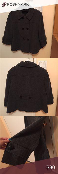 Women's wool pea coat Grey women's wool pea coat. Size us 16. Gently worn in excellent condition. No imperfections. 3/4 sleeves Steilmann Jackets & Coats Pea Coats