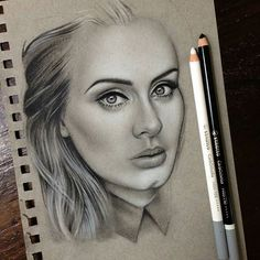 @drawberryart created this beautiful portrait of Adele using @stabilo…