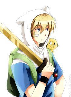 Finn The Human from Adventure Time in Anime form! Manga Anime, Anime Vs Cartoon, Cartoon Shows, Anime Guys, Anime Art, Fin And Jake, Jake The Dogs, Finn The Human, Adventure Time Finn