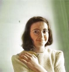 """Margot Frank smiles for the camera.  """