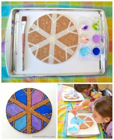 Invitation to create snowflake trivets for pretty (and useful) Winter gifts -- beautiful!