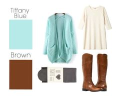 Tiffany Blue & Brown   26 Essential Fall Color Palettes You Need To Try
