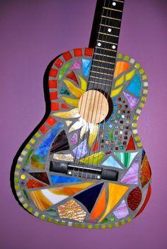 guitar wallpaper behind glass - photo #17