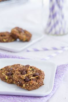 Quinoa Chocolate Chip Zucchini Breakfast Cookies - Vegan, gluten-free chocolate chip cookies made with cooked quinoa, maple syrup and fresh zucchini. All the goodness of zucchini bread, with a breakfast feel.