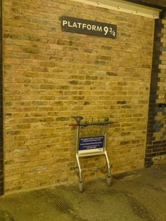 Platform 9 3/4, Kings Cross Station, London, England