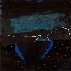 Idris Murphy Desert night sky 2007 Acrylic & gouache on board, unframed 60h x 60w cm (board size)