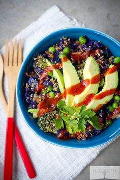 Spicy Rainbow Buddha Quinoa Bowl