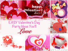 Easy ideas for a Valentine's Day Party for Kids from KidsParties123.com
