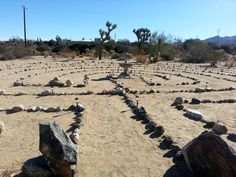 Joshua Tree Retreat Center Labyrinth, open to the public, a very serene experience.