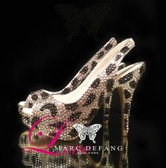 Leopard Print Crystal Luxury Slingback by MDNY on Etsy