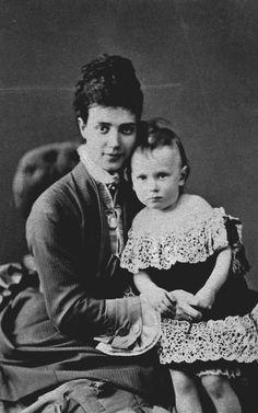 Unknown Person - Maria Feodorovna, Empress of Russia, when Tsesarevna, and Grand Duke George Alexandrovich