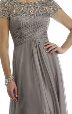 Grey Mother of the Bride Dresses Scoop Beading Floor Length Elegant Zipper A Lin. Grey Mother of the Bride Dresses Scoop Beading Floor Length Elegant Zipper A Line Chiffon Evening Gowns Mother Of Groom Dresses, Bride Groom Dress, Bride Gowns, Mothers Dresses, Mother Of The Bride Dresses Plus Size, Mob Dresses, Bridesmaid Dresses, Dresses 2016, Bridesmaids