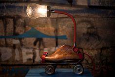 Table Lamp Upcycled VintageRoller Skates Lamp. $210.00, via Etsy.