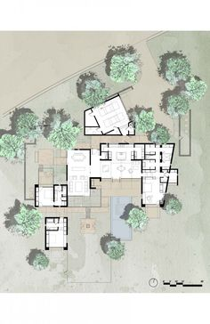 The Brown Residence floorplan by Lake|Flato Architects