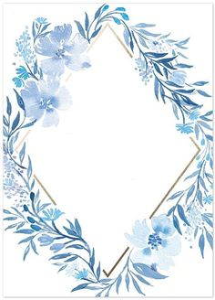 Flower Backgrounds, Wallpaper Backgrounds, Iphone Wallpaper, Blue Wallpapers, Pretty Wallpapers, Baby Blue Wallpaper, Invitation Background, Floral Border, Flower Frame