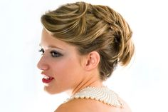Loving Downton Abbey? Channel your inner Lady Mary or Sybil with a vintage-inspired prom updo!