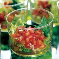 Ensalada de granada y escarola al aceite de oliva virgen
