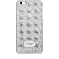 Michael Michael Kors Pave iPhone 6 Plus Case ($64) ❤ liked on Polyvore featuring accessories, tech accessories, crystal and michael michael kors
