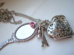 Beauty and The Beast Pocket Watch Necklace by BaillieDay on Etsy, £15.00