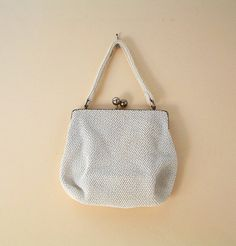 Vintage White Cream Beaded Evening Purse With by TheFrabjousDay 24
