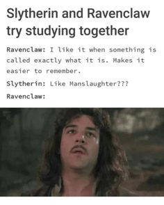 A decent rivalry exists between the Hogwarts houses of Slytherin and Ravenclaw, and these ten hilarious memes make light of the conflict. Ravenclaw Memes, Slytherin And Hufflepuff, Slytherin Harry Potter, Slytherin House, Harry Potter Jokes, Harry Potter Fandom, Hogwarts Houses, Hilarious Memes, Funny