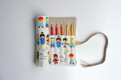 Pencil Roll Cute Dolls  WITHOUT Pencils  Crochet by 20FourAcres