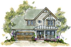 Chang An Grade Level Entry House Plans Front View House Plans