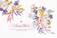 Fall Flowers, Summer Flowers, Floral Flowers, Business Invitation, Invitation Cards, Wedding Invitation, Garden Coffee, Flower Graphic, Watercolor Flowers
