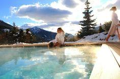 La #piscina esterna dell' Active Hotel Olympic!  #vacanza #wellness in #valdifassa #trentino
