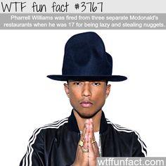 Pharrell Williams' McDonald's jobs - WTF fun facts