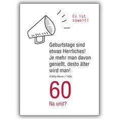 Die 16 besten Bilder von 60. geburtstag spruch | Birthday cards