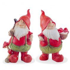 'Max' & 'Mason' The Gardening Garden Gnome Ornaments #gardening #gnomes #garden