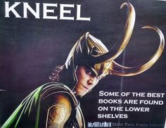 Reading poster with Loki