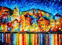 Pinturas al Óleo: Pintor espátula óleo, Leonid Afremov