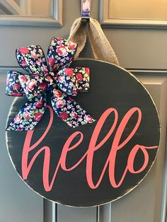Ideas For Spring Door Decorations Wood Summer Wreath Front Door Signs, Front Door Decor, Wreaths For Front Door, Front Doors, Dorm Door Signs, Spring Door Wreaths, Summer Wreath, Wooden Door Hangers, Wooden Doors